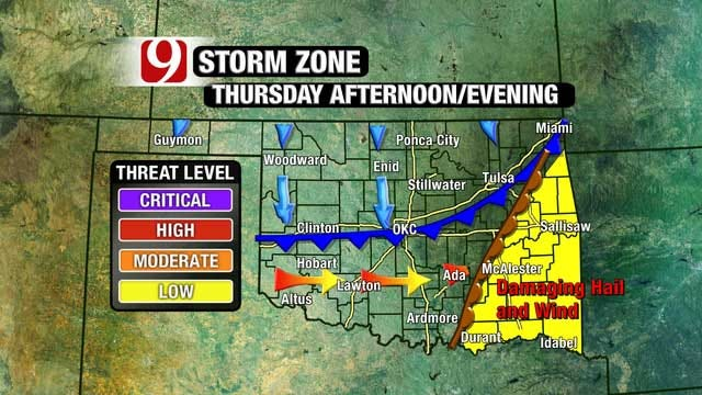Minimal Severe Storm Threat Wednesday, Increases Thursday