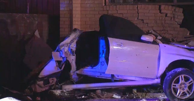 Two Killed; Two Hurt After Car Slams Into NW OKC Building