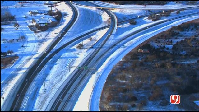 Winter Storm Creates Dangerous Road Conditions Across Oklahoma