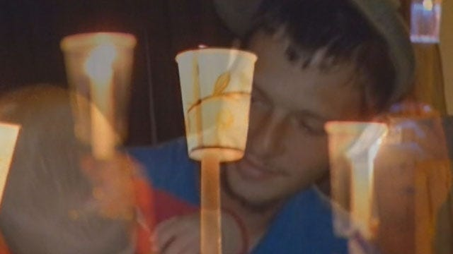 Candlelight Vigil Held For Victim In Deadly Norman Home Invasion