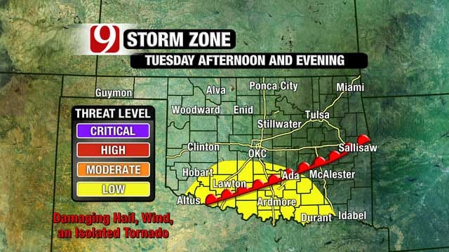 Damaging Hail, High Winds, Tornadoes Possible Next 3 Days
