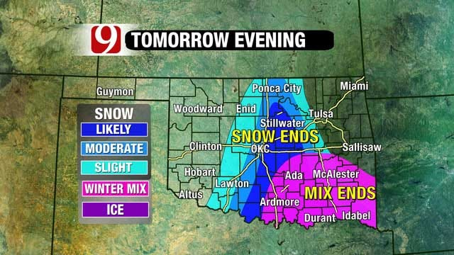 Another Round Of Winter Weather To Hit Oklahoma Wednesday