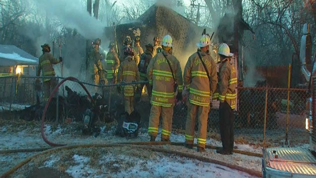 SW OKC House Destroyed In Early morning Fire
