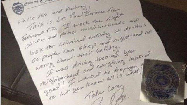 Edmond Police Officer's Act Of Kindness Spreads Across Social Media