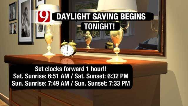 Light Winter Mix Falls, Daylight Saving Time Begins