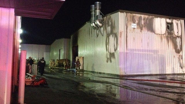 Firefighters Put Out Business Fire On I-35 In OKC