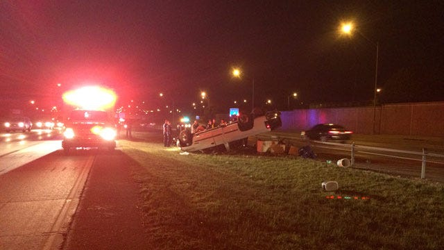 One Injured In Rollover Accident On Lake Hefner Parkway