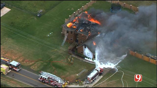 Crews Contain House Fire In Edmond