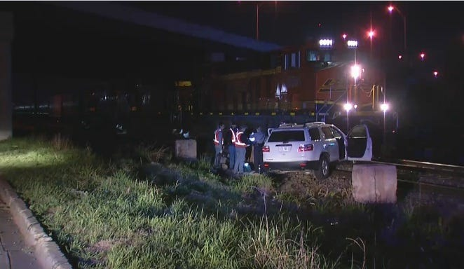 SUV Slams Into Parked Train In SE OKC