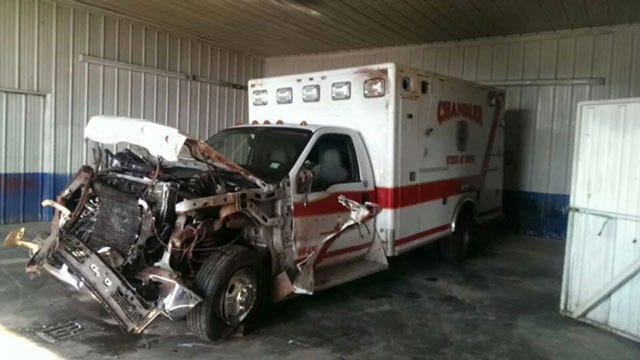 Ambulance Crashes Into Cow On Highway 66 In Lincoln County