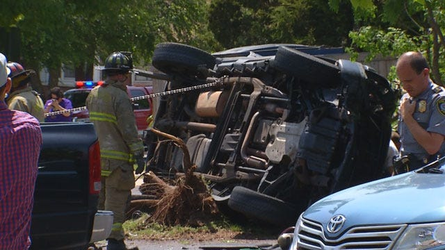 Three Critical After Rollover Accident In NW Oklahoma City