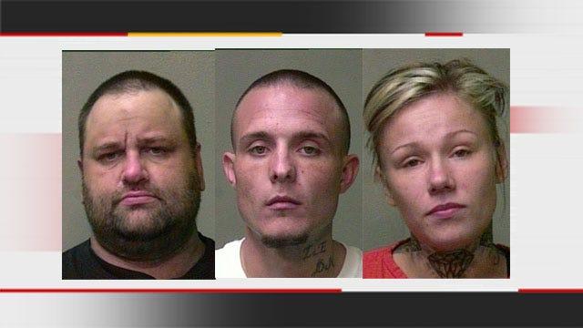 3 Arrested After Deputy Interrupts Burglary In Progress On OKC Interstate