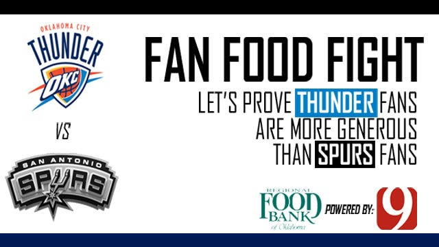 FAN FOOD FIGHT: Prove Thunder Fans Care More Than Spurs Fans