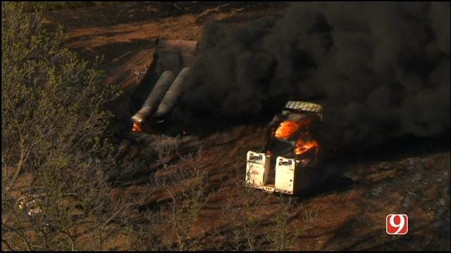Grass Fire Spreads To Vehicles In Deer Creek Field