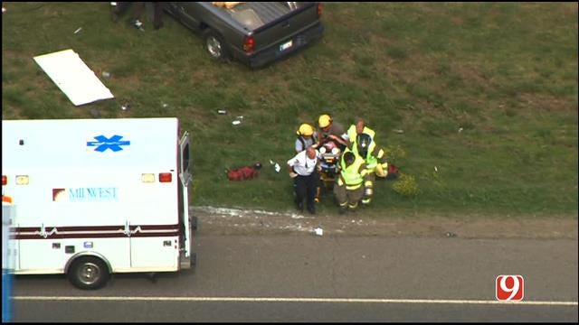Crews Respond To Two Accidents On I-35 Near Moore