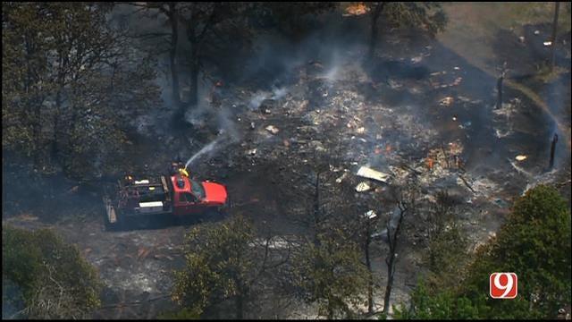 Oklahoma Firefighters Contain Grass Fire Near Guthrie
