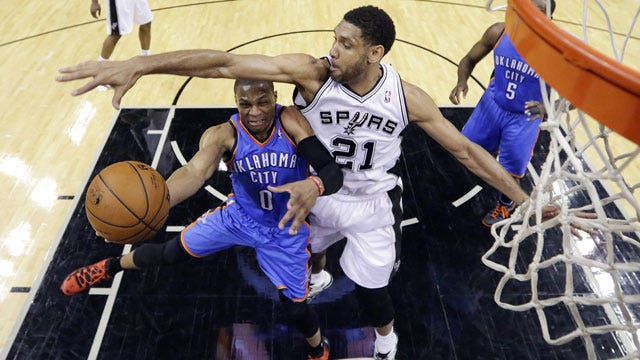 Spurs 122, Thunder 105: By The Numbers