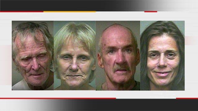 4 Arrested In Choctaw After K9 Deputy Finds Meth In Truck