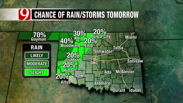 Slow-Moving Storm Headed For Oklahoma