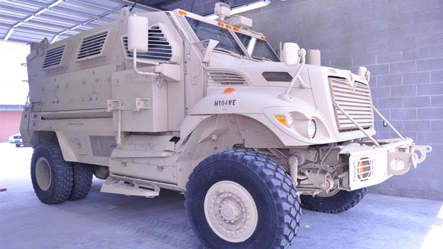 Enid Police Get New Armored Vehicle For SWAT Team