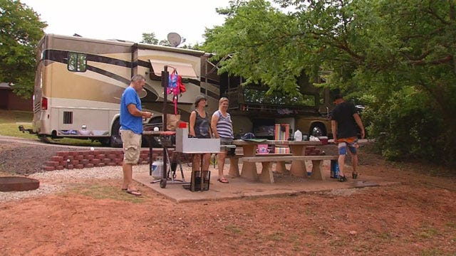 Campers Ready For Memorial Day Weekend, Rain Or Shine