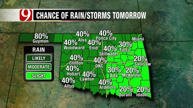 Rain Chances Increase To 100% Nearly Statewide On Memorial Day