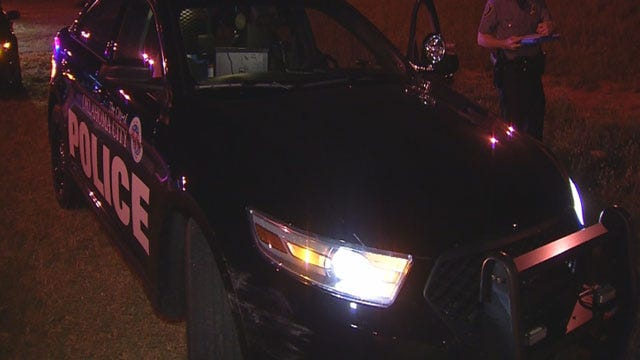 Wrong-Way Driver Arrested After Hitting OKC Police Cruiser