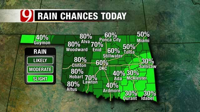 Rain Chances Continue Through Tuesday