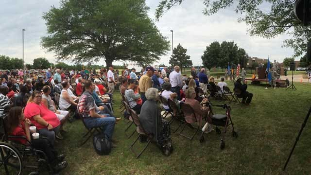 45th Infantry Division Memorial Day Ceremony Takes Place In OKC