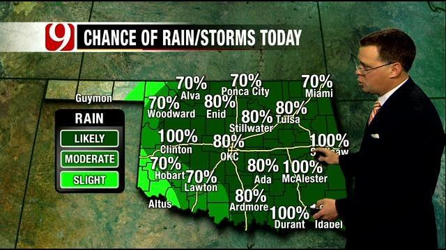 Oklahoma Forecast: More Rain, Storms On Tuesday