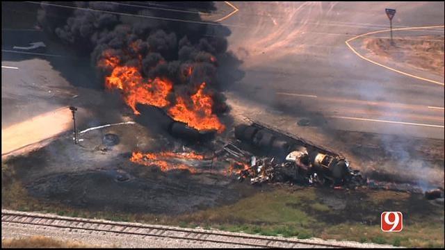One Dead After Tanker Trucks Collide Near Geary