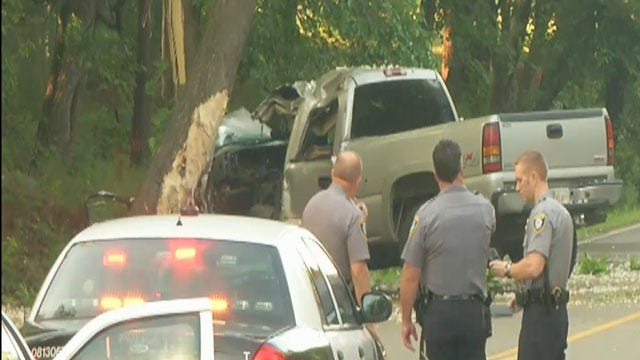 One Killed After Pickup Crashes Into Tree On N. Coltrane In OKC