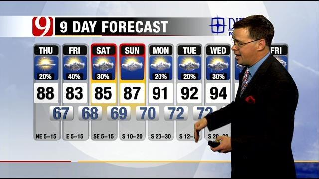 Warm, Humid Thursday Across Oklahoma