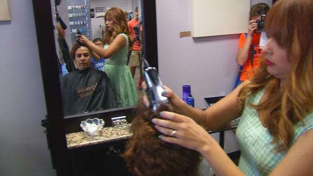 OK Woman Shaves Head To Prepare For MS Treatment
