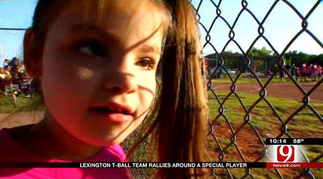 Special Needs Athlete Finds A Home With Lexington T-Ball Team