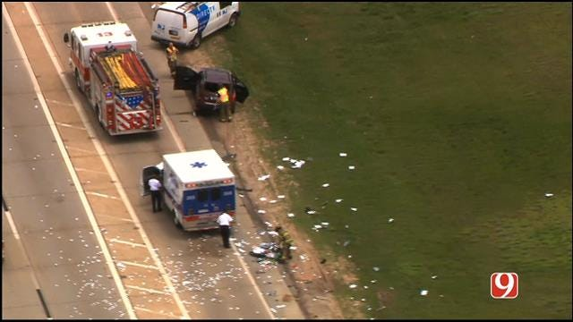 Crews Respond To Rollover Accident In SE OKC
