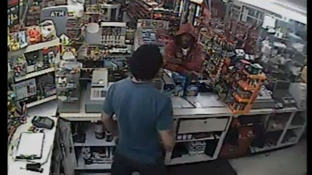Oklahoma City Police Search For Suspects In Violent Robbery