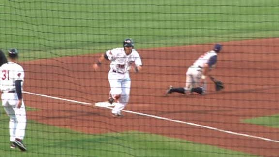 RedHawks Walk Off Against Omaha With Squeeze Play