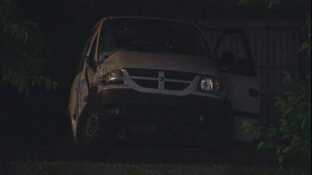 Two Injured After Pickup Collides With Train In SW OKC