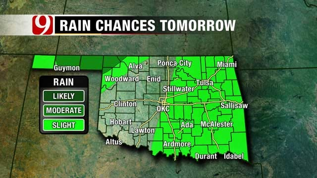 Chance For Strong To Severe Storms In NW Okla. Late Sunday