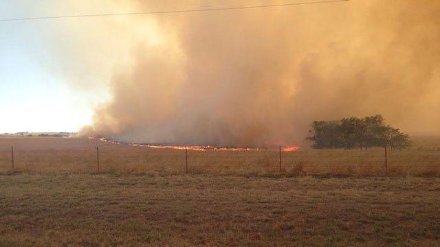 Grass Fire Shuts Down US 270 In Dewey County