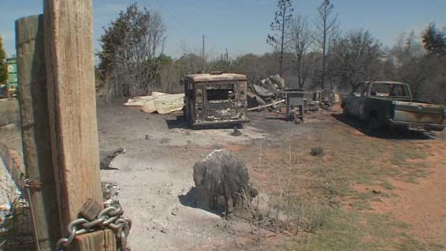 Family Loses Everything In Logan County Wildfires