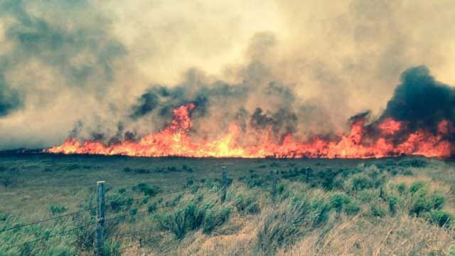 Fire Crews From The State Mobilize To Fight Woodward Wildfire
