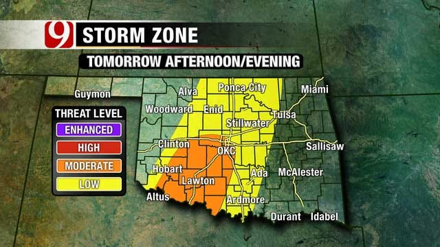 Mid-Level Storm To Approach Oklahoma
