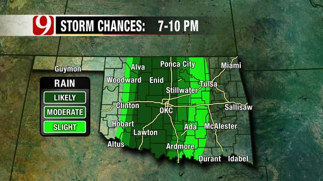 Severe Storms Possible Tonight, Tomorrow In Oklahoma
