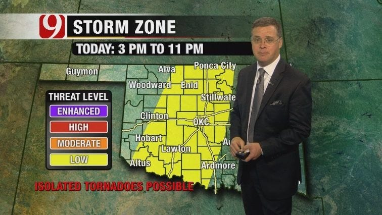 Severe Thunderstorms Possible In Parts Of Oklahoma