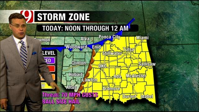 More Thunderstorms In The Forecast In OK Late Thursday