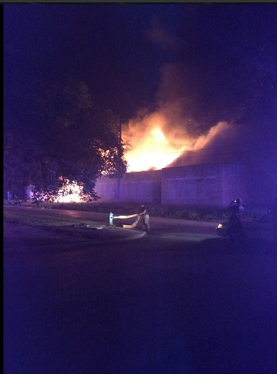 Large Building Fire Reported In Guthrie