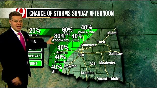 Slight Chance Of Thunderstorms This Weekend In Oklahoma