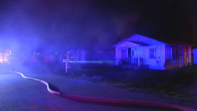 Downed Power Line, Structures Destroyed In SE OKC Fire
